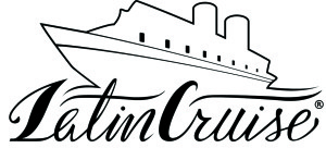LOGO LATIN CRUISE OUTLINE NERO